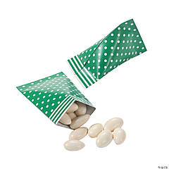 Green Polka Dot Sour Cream Favor Containers