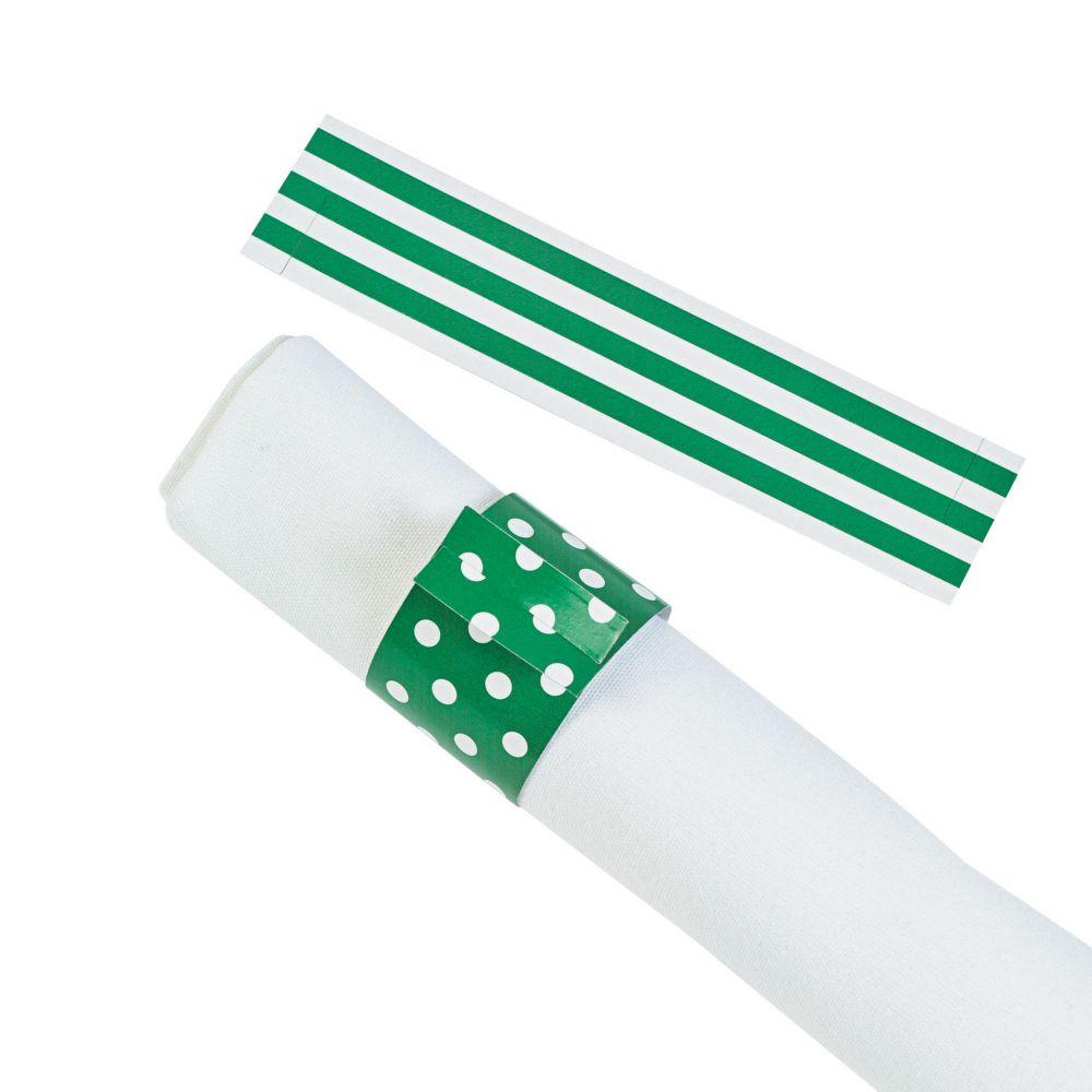 Green Reversible Napkin Rings - Napkins & Napkin Rings