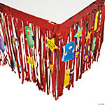 100 Days of School Table Skirt with Cutouts