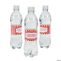 Personalized Carnival Water Bottle Labels