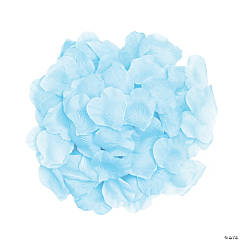 Polyester Light Blue Rose Petals