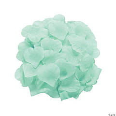 Polyester Mint Green Rose Petals