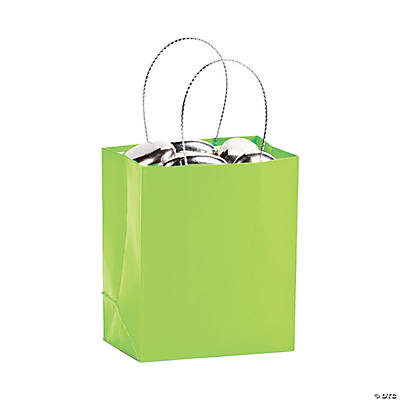 Mini Lime Green Gift Bags