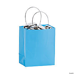 Light Blue Mini Gift Bags