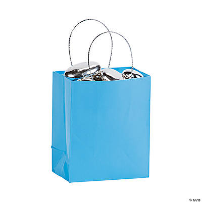 Mini Light Blue Gift Bags