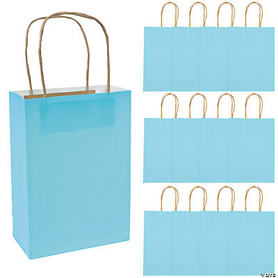 Light Blue Medium Craft Bags