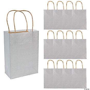 Silver Medium Craft Bags