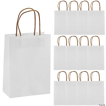 White Medium Craft Bags