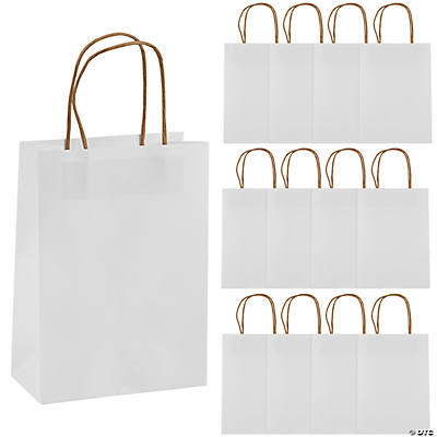 White Medium Kraft Paper Bags