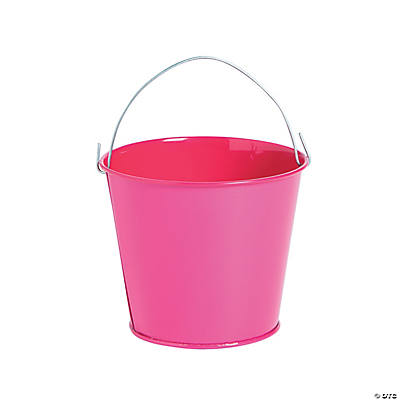 Mini Hot Pink Pails with Handles