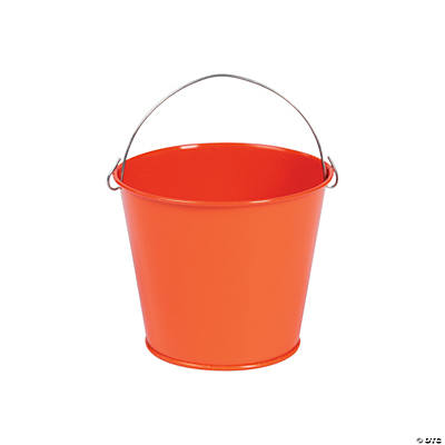 Mini Orange Pails with Handles
