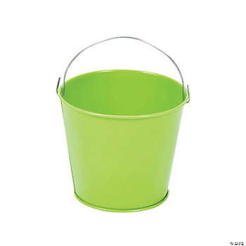 Mini Lime Green Pails With Handles