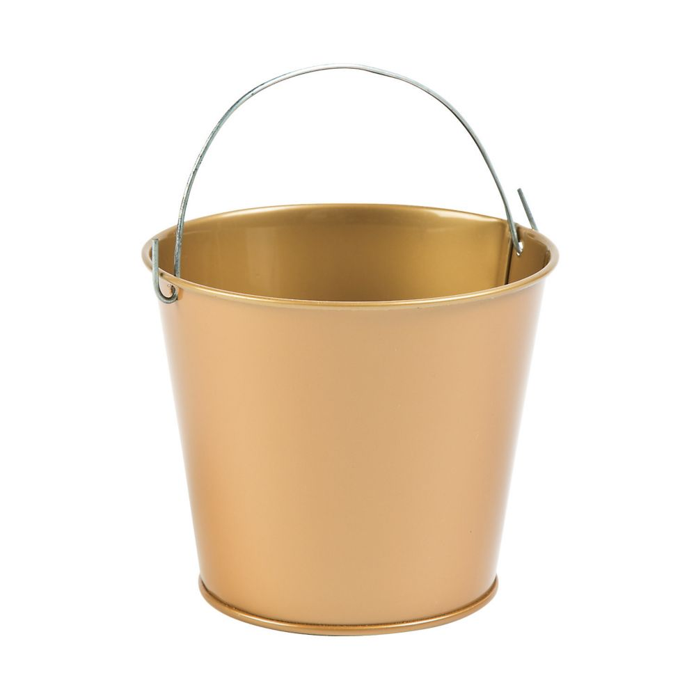 Goldtone Pails with Handles - Solid Color Party Supplies & Solid