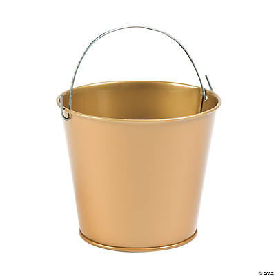 Goldtone Pails with Handles