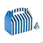 Mini Blue Striped Treat Boxes