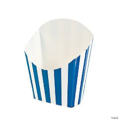 Blue Striped Fry Containers