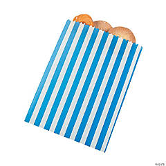 Blue Striped Treat Bags