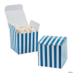 Blue Striped Gift Boxes