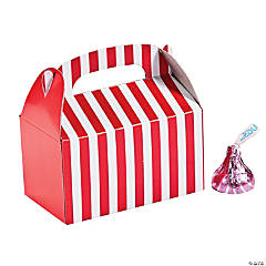 Mini Red Striped Treat Boxes