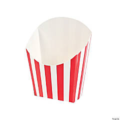 Red Striped Fry Containers