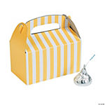 Mini Yellow Striped Treat Boxes