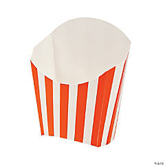 Orange Striped Fry Containers