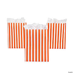 Orange Striped Treat Bags
