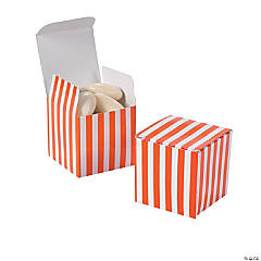 Orange Striped Gift Boxes