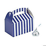 Mini Purple Striped Treat Boxes