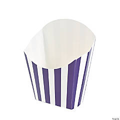 Purple Striped Fry Containers