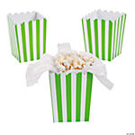 Mini Lime Green Striped Popcorn Boxes