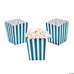 Mini Turquoise Striped Popcorn Boxes