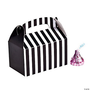 Mini Black Striped Treat Boxes