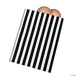 Black Striped Treat Bags