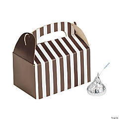 Mini Chocolate Brown Striped Treat Boxes