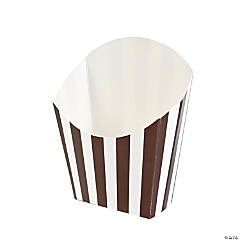 Chocolate Brown Striped Fry Containers
