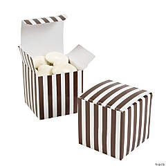 Chocolate Brown Striped Gift Boxes