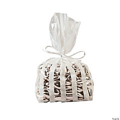 White Striped Bags