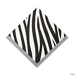 Zebra Luncheon Napkins