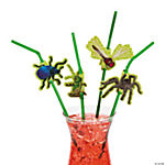 Plastic Bug Straws with Cutouts