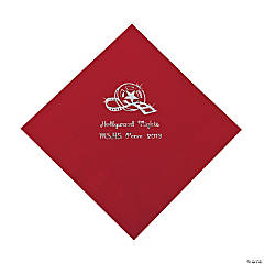 Personalized Movie Night Red Lunch Napkins