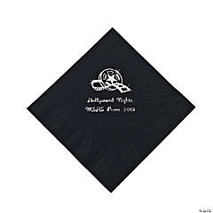 Personalized Movie Night Black Lunch Napkins
