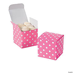 Candy Pink Polka Dot Gift Boxes