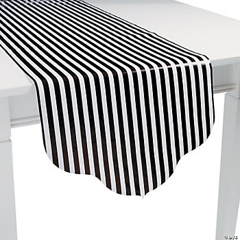 Black Reversible Table Runner