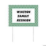 Personalized Green Gingham Yard Sign