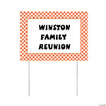 Personalized Orange Gingham Yard Sign