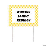 Personalized Yellow Gingham Yard Sign