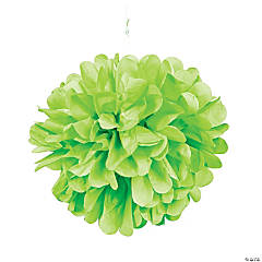 Lime Green Pom-Pom Tissue Decorations