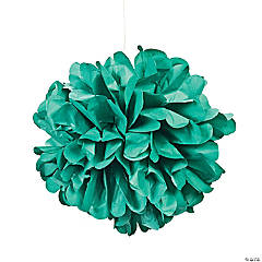 Green Pom-Pom Tissue Decorations