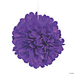 Purple Pom-Pom Tissue Decorations